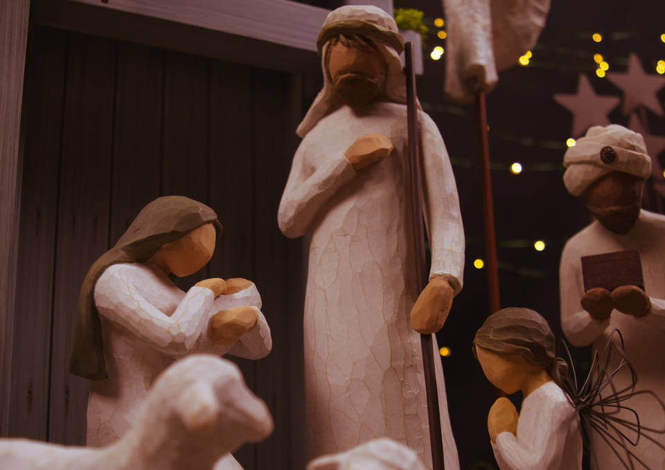 We make the nativity into this picture perfect scene, a bright white winter wonderland that looks good on Christmas cards, but it was far from that idea…