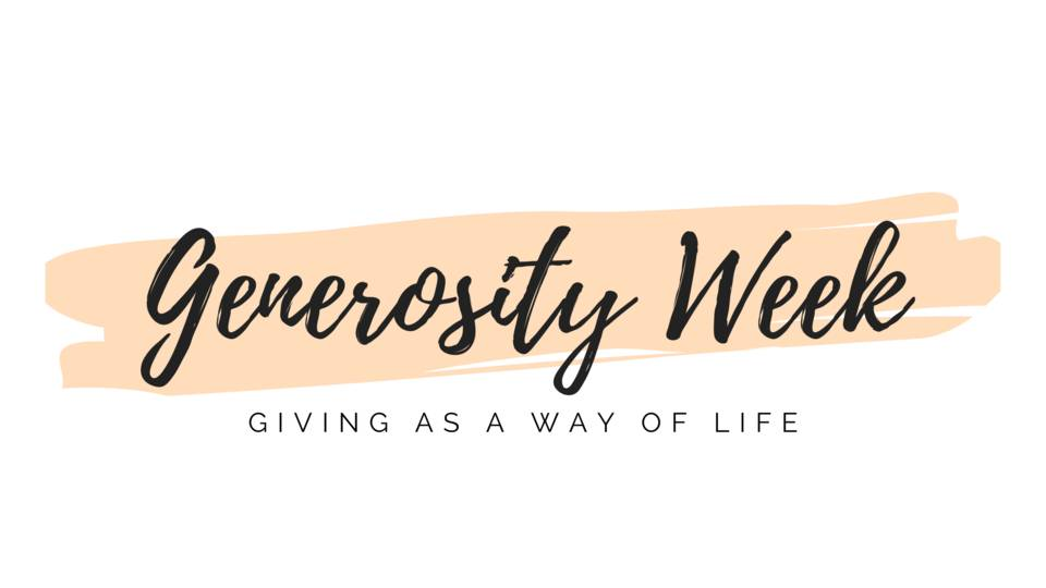 """""""A Generous Giver"""" - Time for Questions, Prayer and Reflection"""